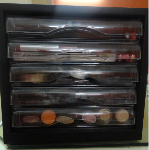 Make up collection and organization and FOTD