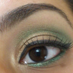 Golden Green festive eyes- MY first eye makeup tutorial