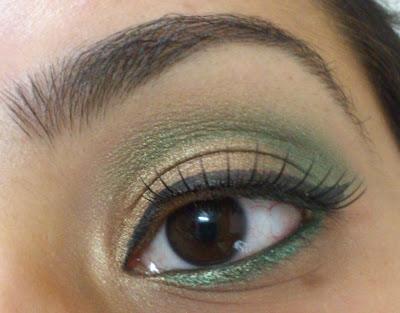 Golden Green festive eyes- MY first eye makeup tutorial