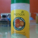 Biotique Bio sandalwood face and body sunscreen Spf 50+ FOTD