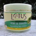 Lotus Herbals Kiwi & Grapes revitalizing skin polisher review!