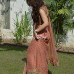 Outfit of the Day: Peach Lehnga Saree!