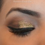 Holiday Golden Glitter Makeup Look!