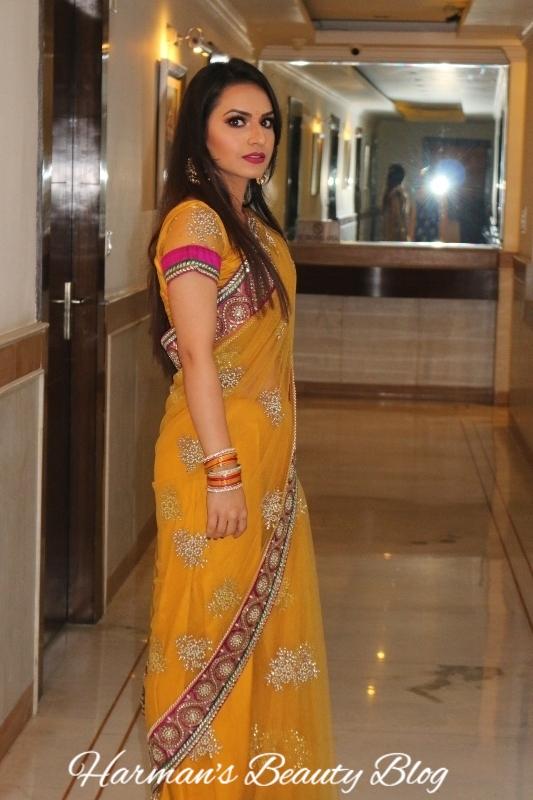 Yellow sari2